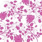 Modelo inconsútil de la flor púrpura Foto de archivo libre de regalías