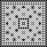 Modelo inconsútil de la forma geométrica en un bacground blanco ilustración del vector