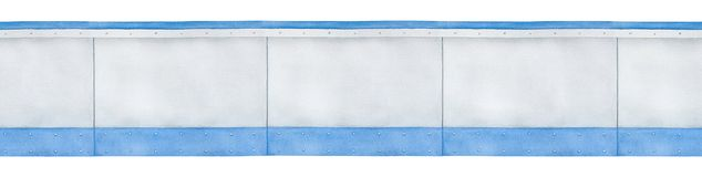 Modelo inconsútil de la frontera de los paneles grises en blanco stock de ilustración