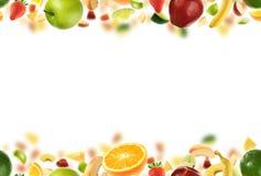 Modelo inconsútil de la fruta fotografía de archivo