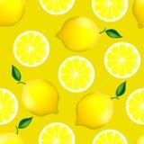 Modelo inconsútil de la fruta cítrica con los limones Fotos de archivo libres de regalías
