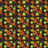 Modelo inconsútil de la fruta colorido Imagen de archivo