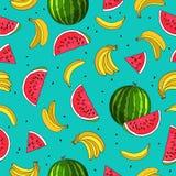Modelo inconsútil de la fruta verano libre illustration