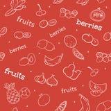 Modelo inconsútil de la fruta y de la baya Imagenes de archivo