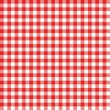 Modelo inconsútil de la guinga Mantel italiano rojo Vector del paño del cuento de la comida campestre ilustración del vector