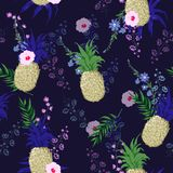 Modelo inconsútil de la impresión floral del vector del verano hermoso y de moda ilustración del vector