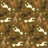 Modelo inconsútil de la jirafa Ilustración del Vector