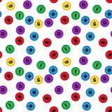Modelo inconsútil de la loteria aislado en el fondo blanco bingo Fotos de archivo libres de regalías