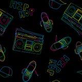 Modelo inconsútil de la música del hip-hop Fotografía de archivo libre de regalías