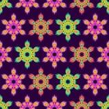 Modelo inconsútil de la mandala colorida del hexágono Imagenes de archivo