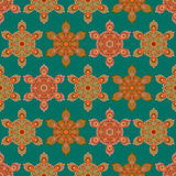 Modelo inconsútil de la mandala colorida del hexágono Fotos de archivo