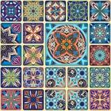 Modelo inconsútil de la mandala floral étnica Fondo colorido del mosaico Foto de archivo libre de regalías