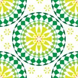 Modelo inconsútil de la mandala redonda verde libre illustration