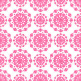 Modelo inconsútil de la mandala rosada de la flor Foto de archivo