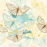 Modelo inconsútil de la mariposa Fotografía de archivo