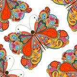 Modelo inconsútil de la mariposa Fotos de archivo libres de regalías