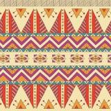 Modelo inconsútil de la materia textil ornamental étnica Foto de archivo