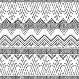Modelo inconsútil de la materia textil ornamental étnica Imagen de archivo