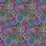 Modelo inconsútil de la moda con remolinos espirales coloridos libre illustration