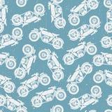 Modelo inconsútil de la motocicleta Fotografía de archivo libre de regalías