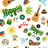 Modelo inconsútil de la muestra del hippie libre illustration