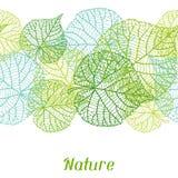 Modelo inconsútil de la naturaleza con las hojas verdes Foto de archivo libre de regalías