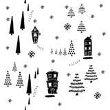 Modelo inconsútil de la Navidad Fotografía de archivo libre de regalías