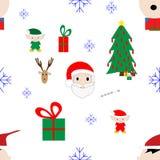 Modelo inconsútil de la Navidad Imagen de archivo