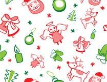 Modelo inconsútil de la Navidad Imagen de archivo libre de regalías