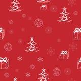 Modelo inconsútil de la Navidad Imagenes de archivo