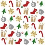 Modelo inconsútil de la Navidad stock de ilustración