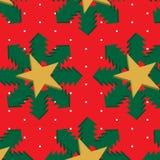Modelo inconsútil de la Navidad 3d stock de ilustración