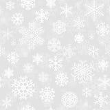 Modelo inconsútil de la Navidad de los copos de nieve Foto de archivo