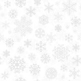 Modelo inconsútil de la Navidad de los copos de nieve Imagen de archivo libre de regalías