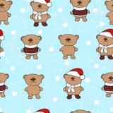 Modelo inconsútil de la Navidad de los osos Imagen de archivo libre de regalías