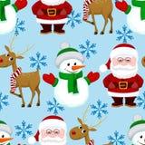 Modelo inconsútil de la Navidad del Año Nuevo Fotos de archivo libres de regalías
