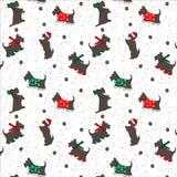 Modelo inconsútil de la Navidad del perro libre illustration