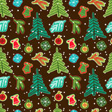 Modelo inconsútil de la Navidad Ilustración del vector Imagenes de archivo