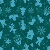Modelo inconsútil de la Navidad, vector Fotografía de archivo