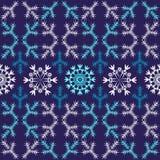Modelo inconsútil de la Navidad violeta (vector) Imágenes de archivo libres de regalías