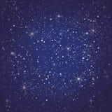 Modelo inconsútil de la noche estrellada ilustración del vector