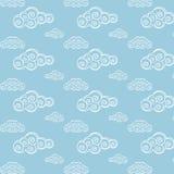 Modelo inconsútil de la nube Fotos de archivo libres de regalías