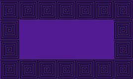 Modelo inconsútil de la púrpura y del meandro negro del griego clásico del capítulo, antecedentes históricos negros simplistas Il imágenes de archivo libres de regalías