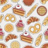 Modelo inconsútil de la panadería Imagenes de archivo