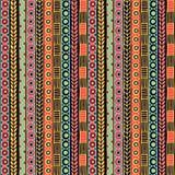Modelo inconsútil de la pertenencia étnica Estilo de Boho Papel pintado étnico Impresión tribal del arte El viejo extracto confin Imágenes de archivo libres de regalías