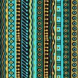 Modelo inconsútil de la pertenencia étnica Estilo de Boho Papel pintado étnico Impresión tribal del arte El viejo extracto confin foto de archivo