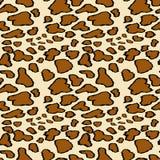 Modelo incons?til de la piel del leopardo en fondo amarillo Estampado de animales libre illustration
