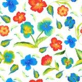 Modelo inconsútil de la primavera abstracta de la elegancia con vector floral del fondo del watercolour Imagen de archivo