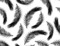 Modelo inconsútil de la rama de la silueta de la palmera Ilustraci?n del vector libre illustration