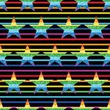 Modelo inconsútil de la raya de la simetría del arco iris del brillo de la estrella Foto de archivo